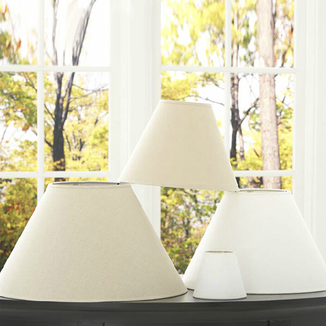 Modern Linen Shades for Table and Floor Lamps 11555