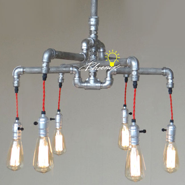 Handmade pipe and edison bulbs chandelier 8823 free ship browse handmade pipe and edison bulbs chandelier 8823 aloadofball Image collections