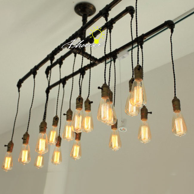 Handmade pipe and edison bulbs chandelier 8822 free ship browse handmade pipe and edison bulbs chandelier 8822 aloadofball Image collections