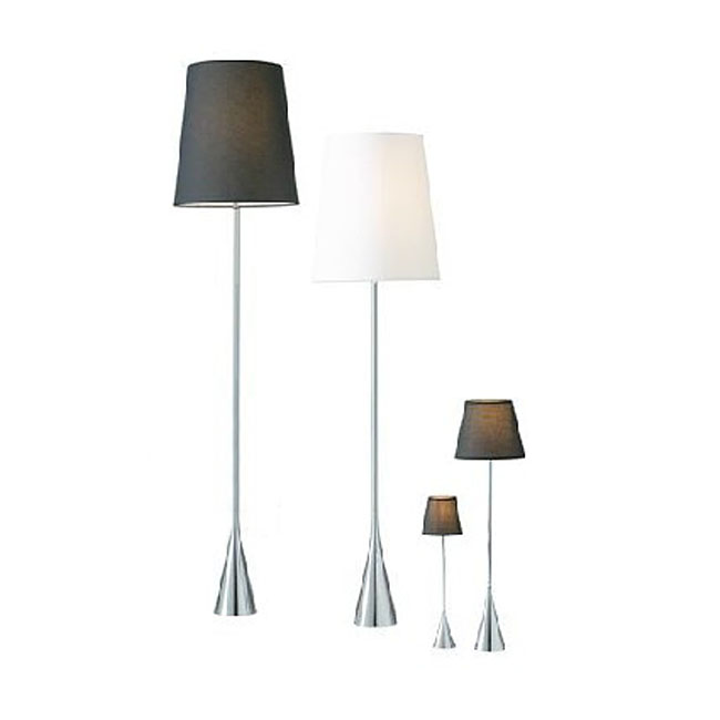 Modern Slim Metal And Fabric Shade Floor Lamp 10511 Archi Lighting