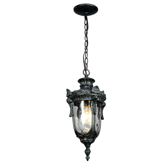 2003 Outdoor Metal and Water Glass Pendant Lighting 9589