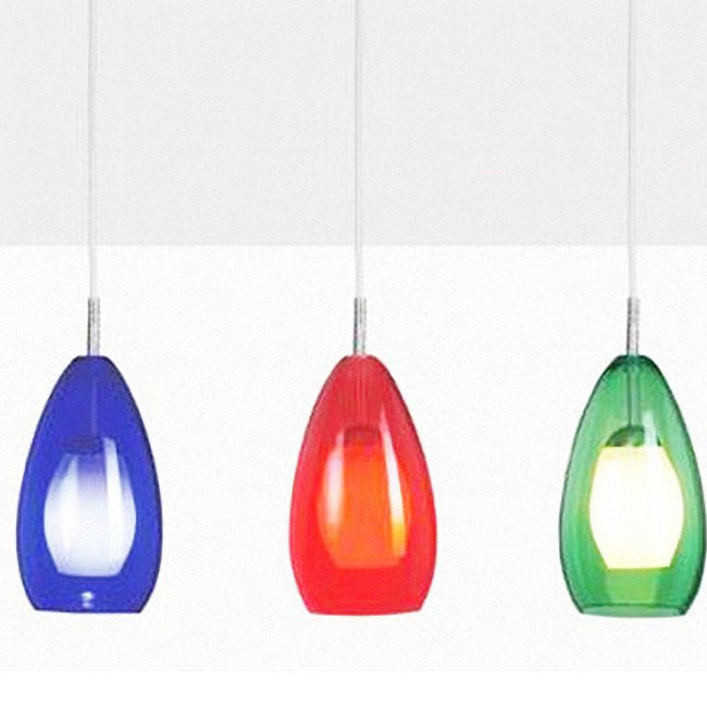 2 Layers Glass Pendant Lighting in Baking Finish 10081