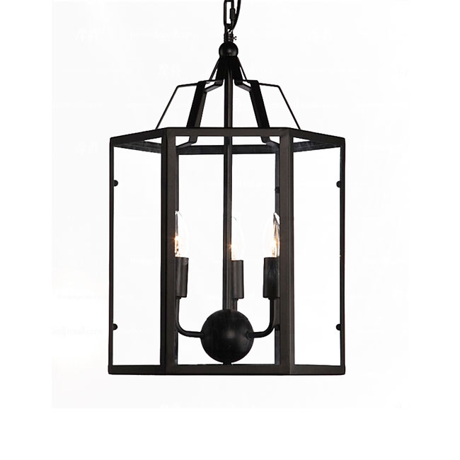 6 Sides Clear Glass Shade Pendant Lighting 11467