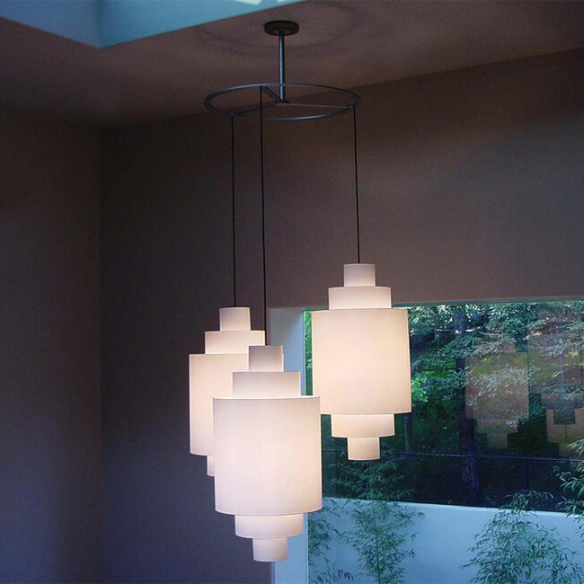 3 Flax Shades Country Pendant Lighting 13038