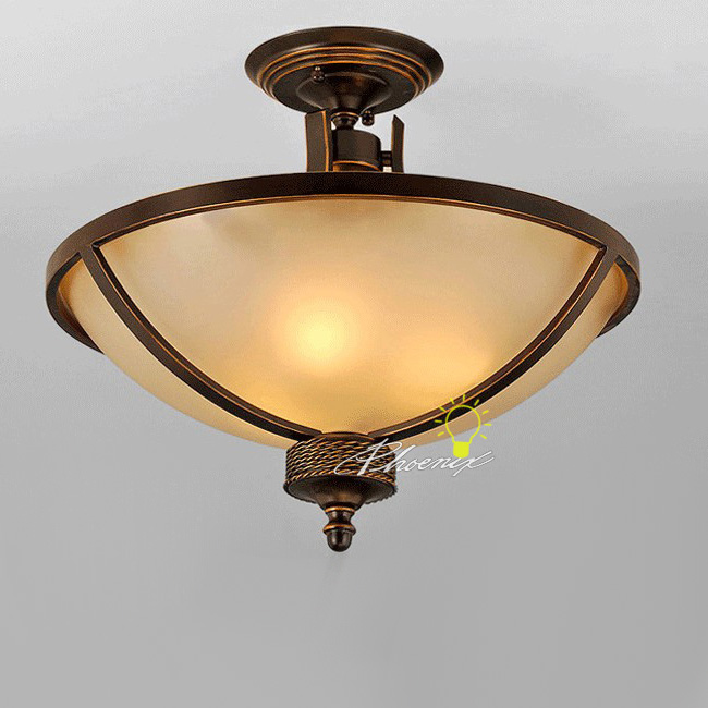 Antique Copper and Glass Recessed Lighting 7342
