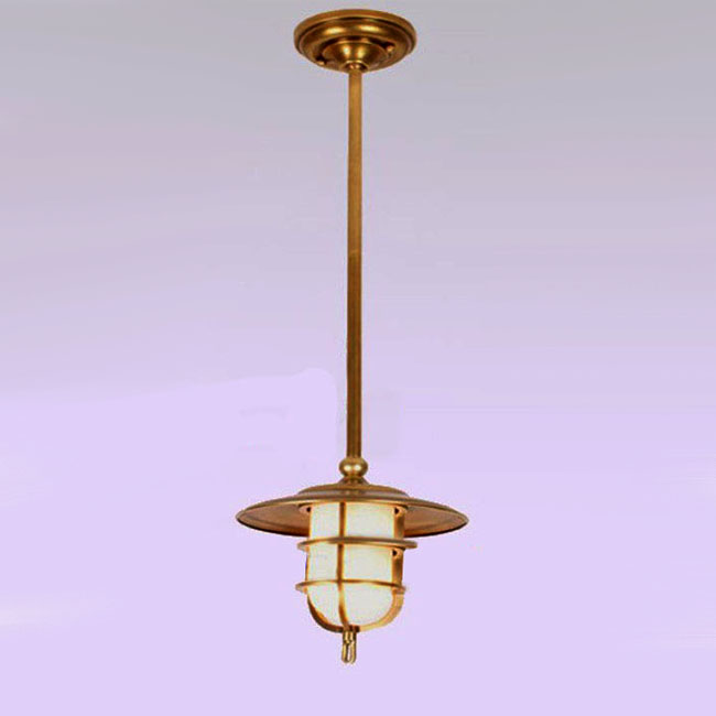 Antique Complete Copper and Glass Recessed Lighting 9422