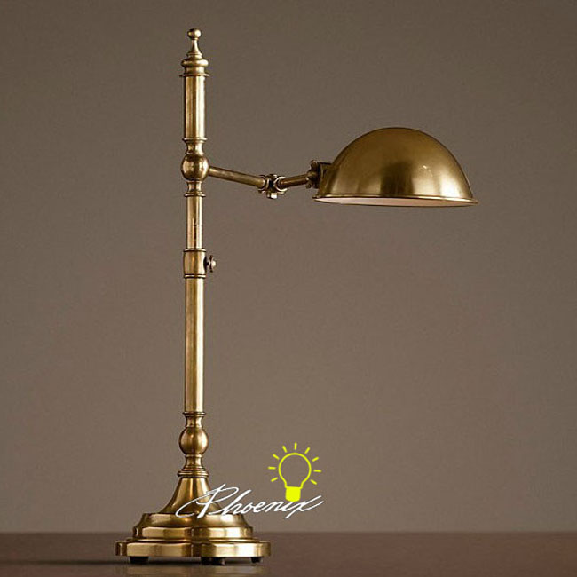 Antique Copper Adjustable Table Lamp 8718