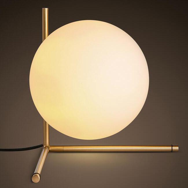 Bon Modern Simple Glass Orb Table Lamp 12471