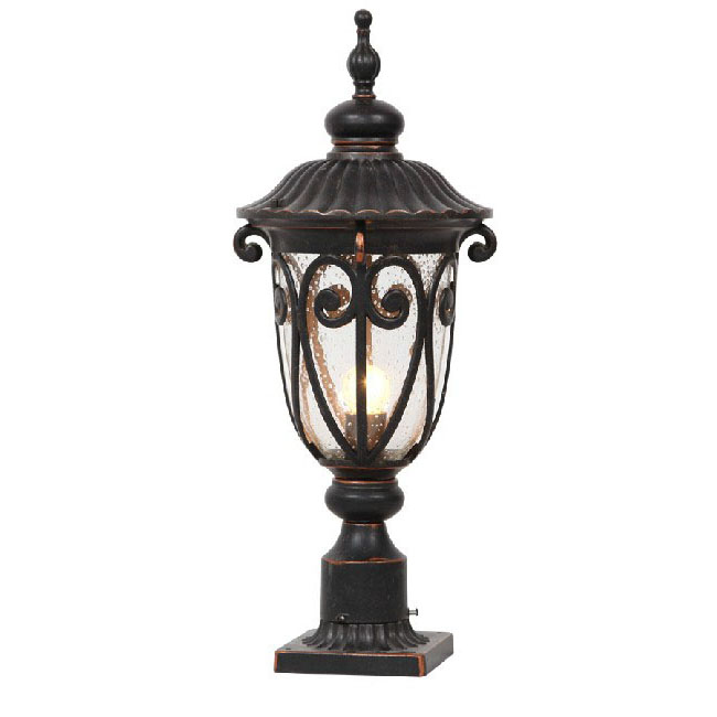 Antique Metal and Bubble Glass Wall Lamp 9542