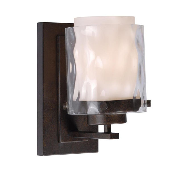 Antiqaue Waved Glass Shade Wall Sconce 11935