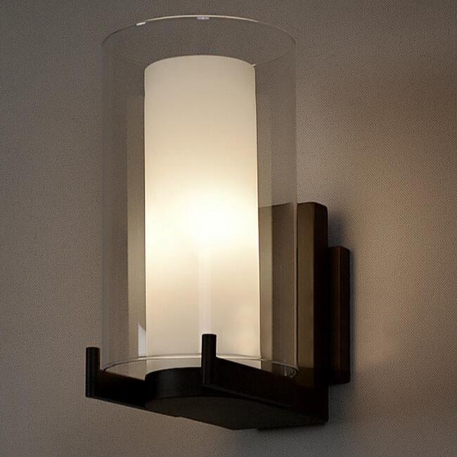 2 Layers Glass and Heavy Metal Wall Sconce 12366